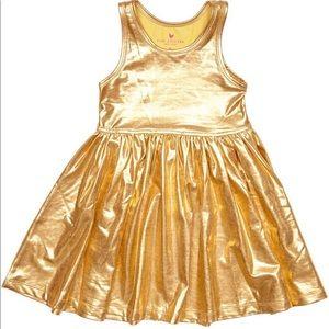 Pink Chicken: Liza Lama Dress Gold